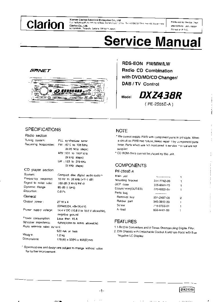 Clarion M5675 Wiring Diagram