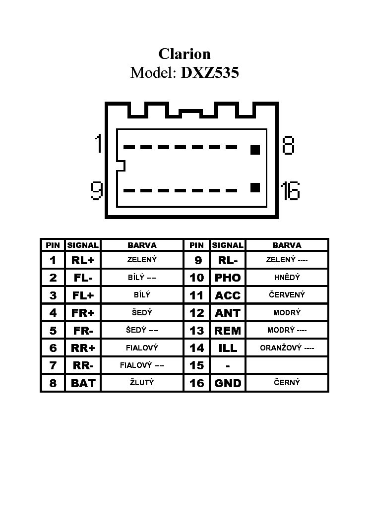 Clarion Nx409 Wiring Diagram