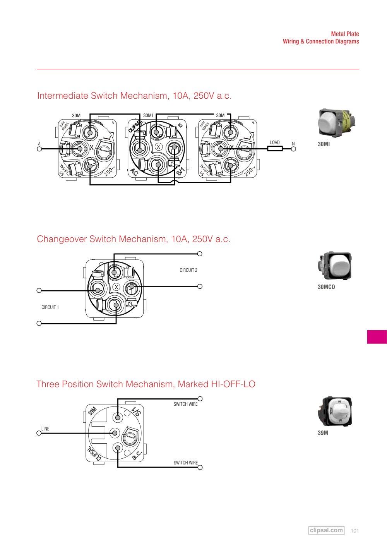 Clipsal 2 Way Switch Wiring Diagram
