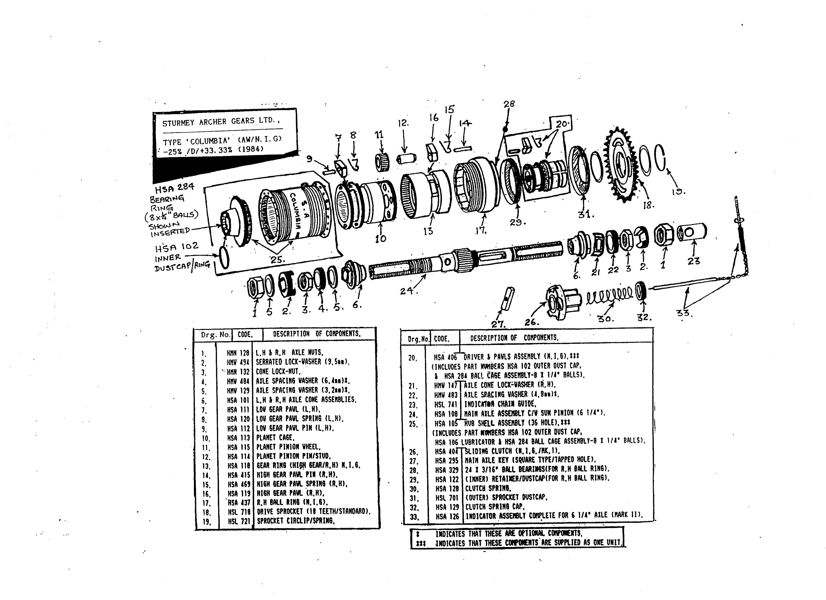 Coaster Brake Assembly Diagram