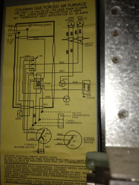 Furnace Diagram And Parts List For Coleman Evcon Ind Furnaceparts