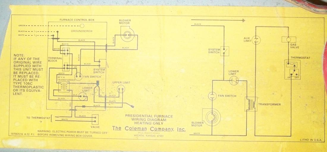 Coleman Electric Furnace Sequencer Wiring Diagram from schematron.org