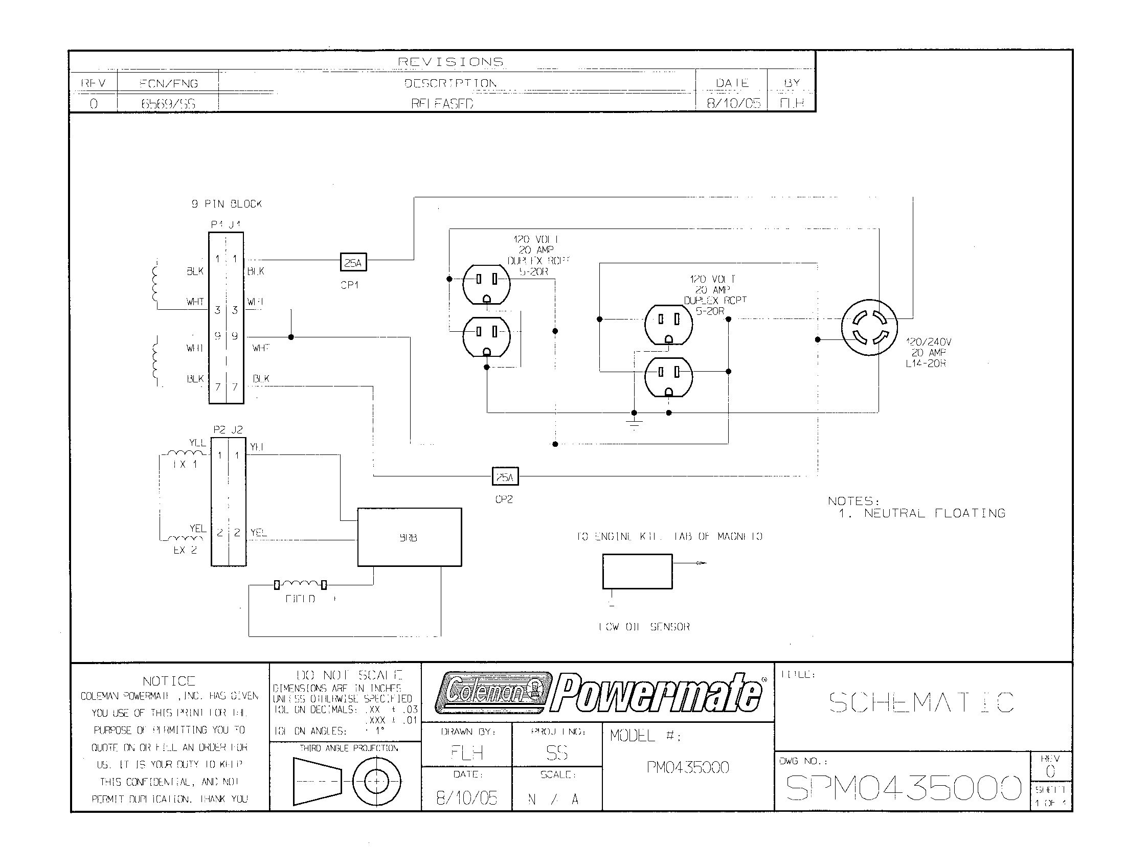 Coleman Powermate 5000 Generator On Off Switch Wiring Diagram