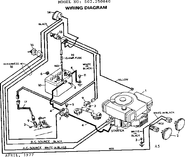 Craftsman 917276827 Lawn Tractor Wiring Diagram