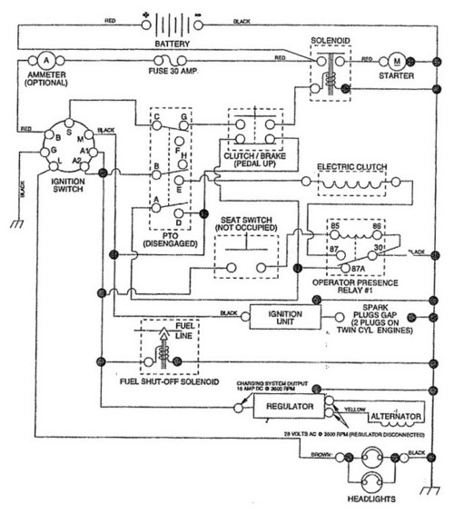 Craftsman Lt4000 917 255450 Wiring Diagram