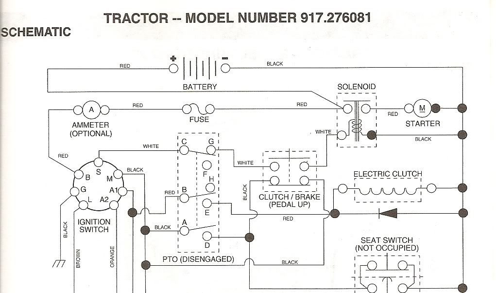 Craftsman Gt5000 Model 917 276022 Wiring Diagram