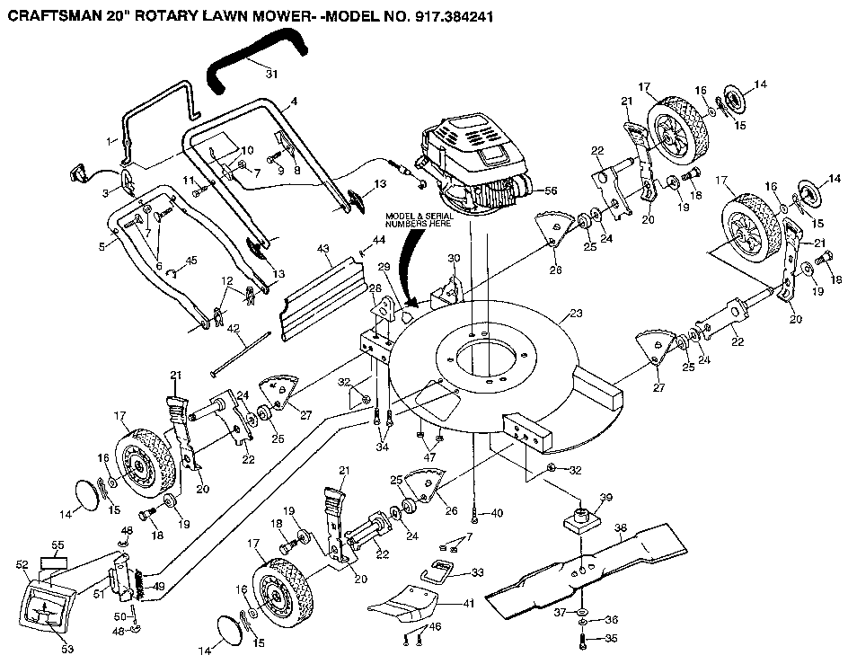 Craftsman Model 917 289280 Wiring Diagram