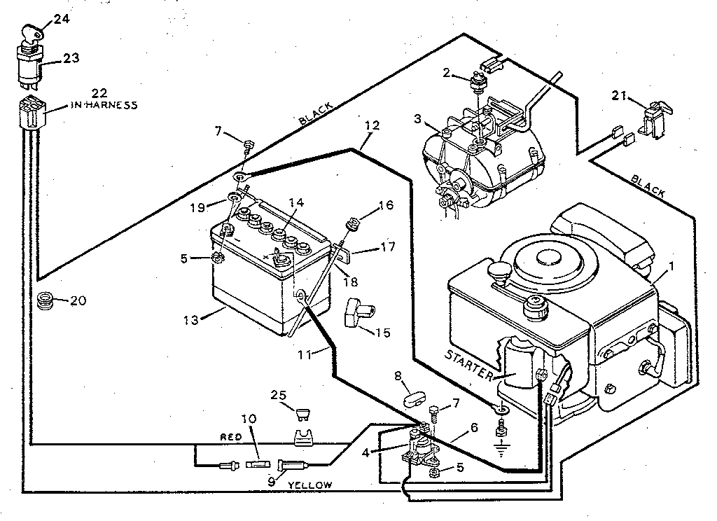 Sears Lawn Mower Wiring Diagram