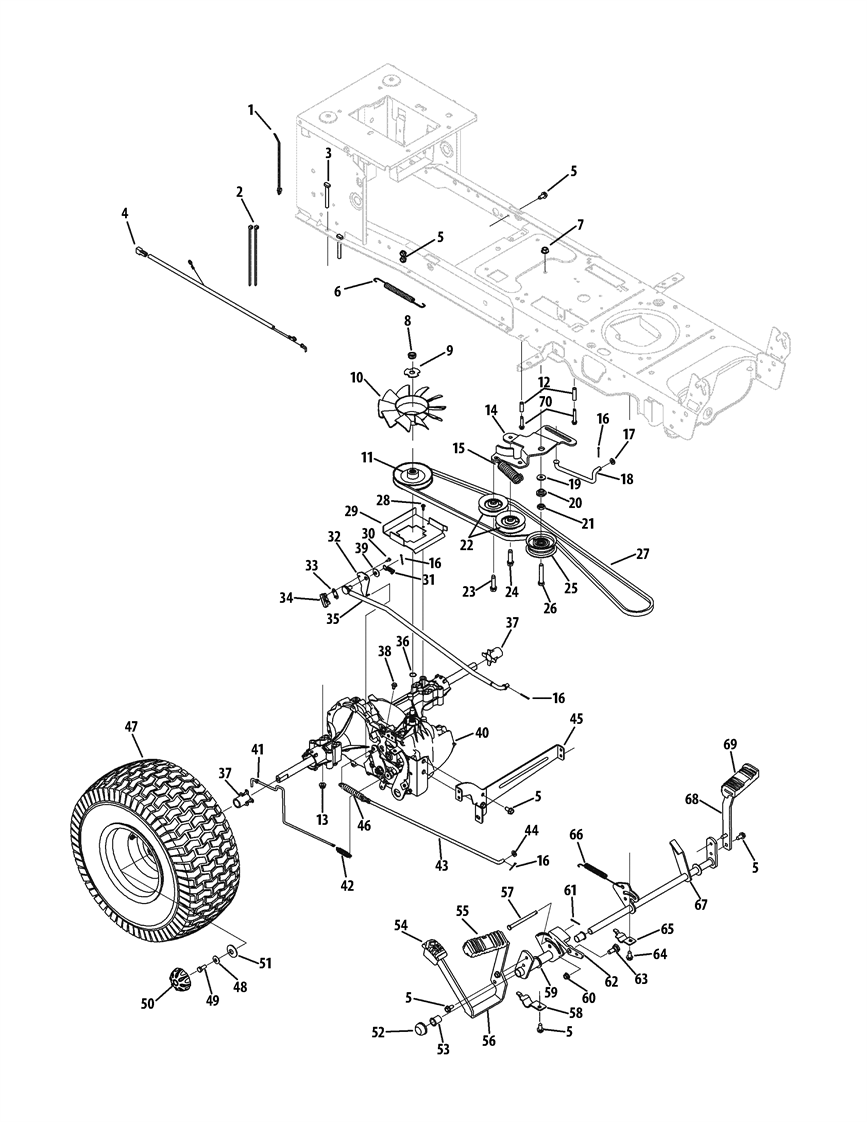 Cub Cadet 1040 Drive Belt Diagram