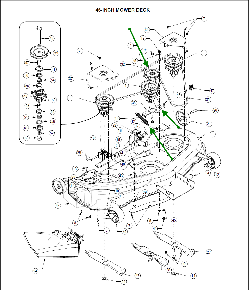 Cub Cadet 2185 Deck Belt Diagram