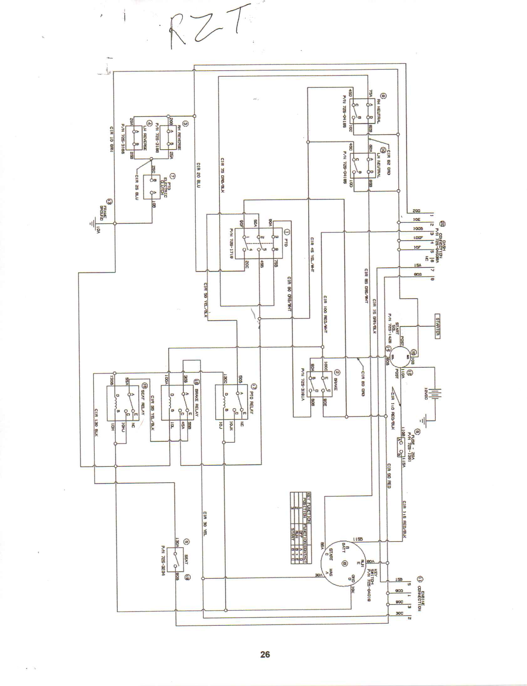 Cub Cadet Rzt 22 Wiring Diagram