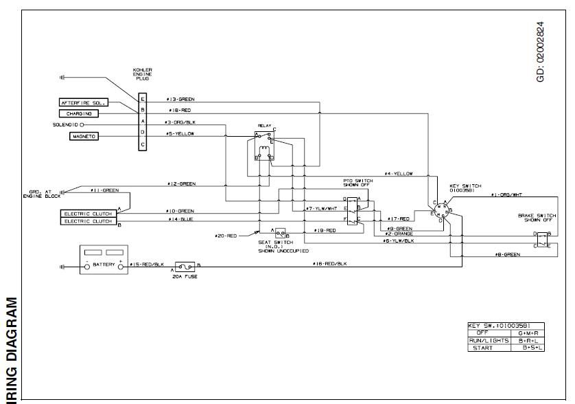Cub Cadet 6 Prong Ignition Switch Wiring Diagram from schematron.org