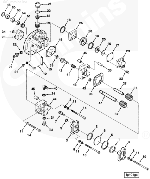 Cummins N14 Fuel Pump Diagram