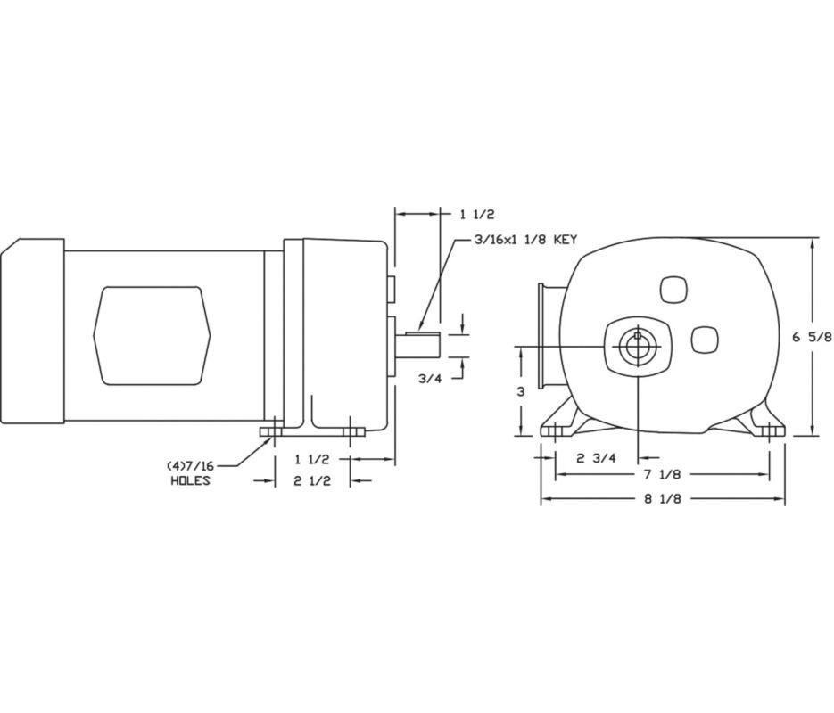 Dayton 1xfy4 Gear Motor Wiring Diagram