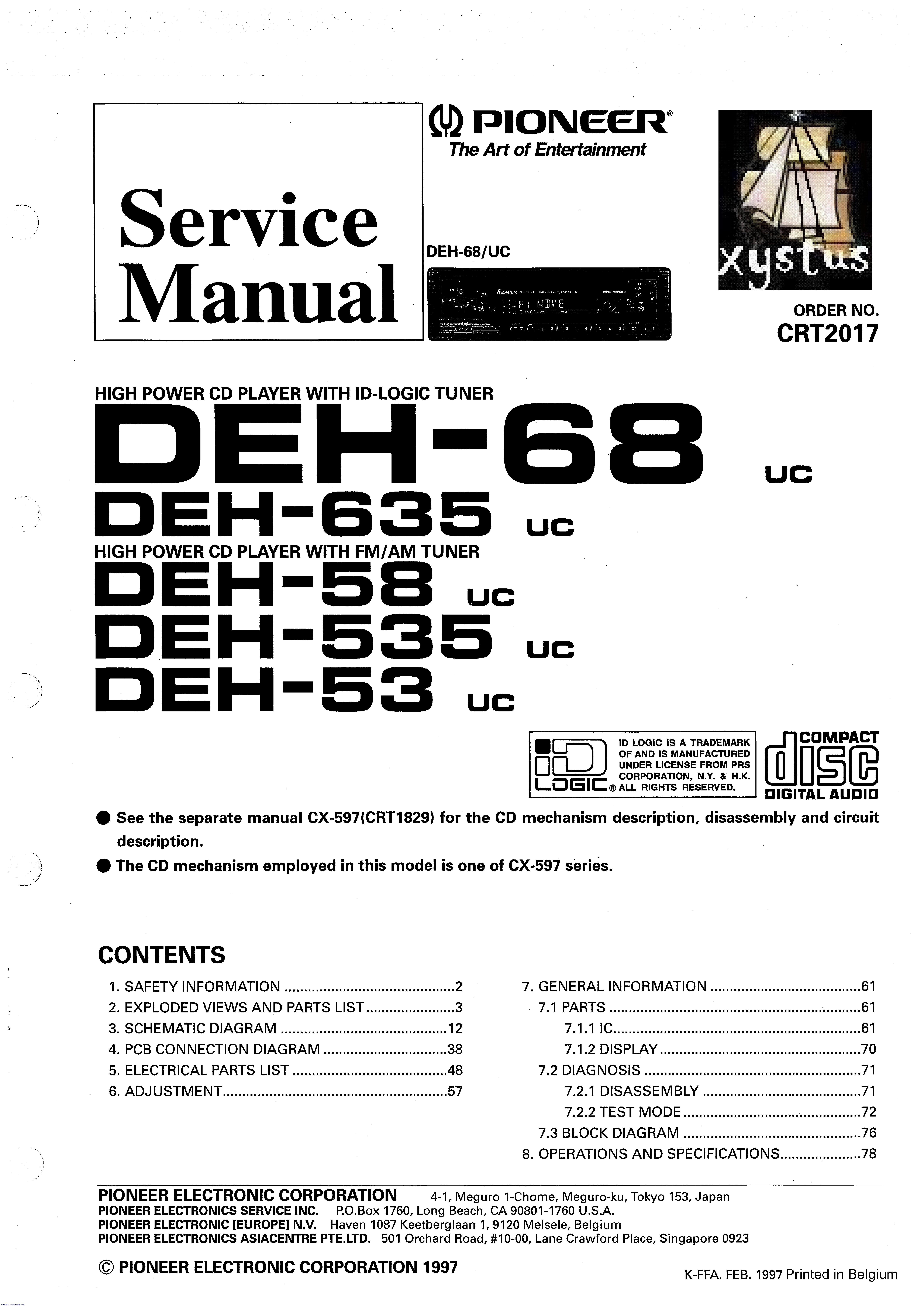 Deh X65bt Wiring Diagram