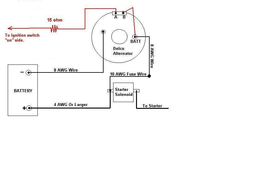 Delco Remy 8700018 Alternator Wiring Diagram on