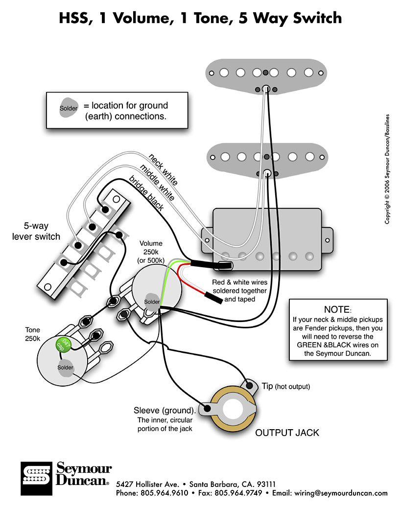 Dimarzio X2 Blade Single Pickup Wiring Diagram on