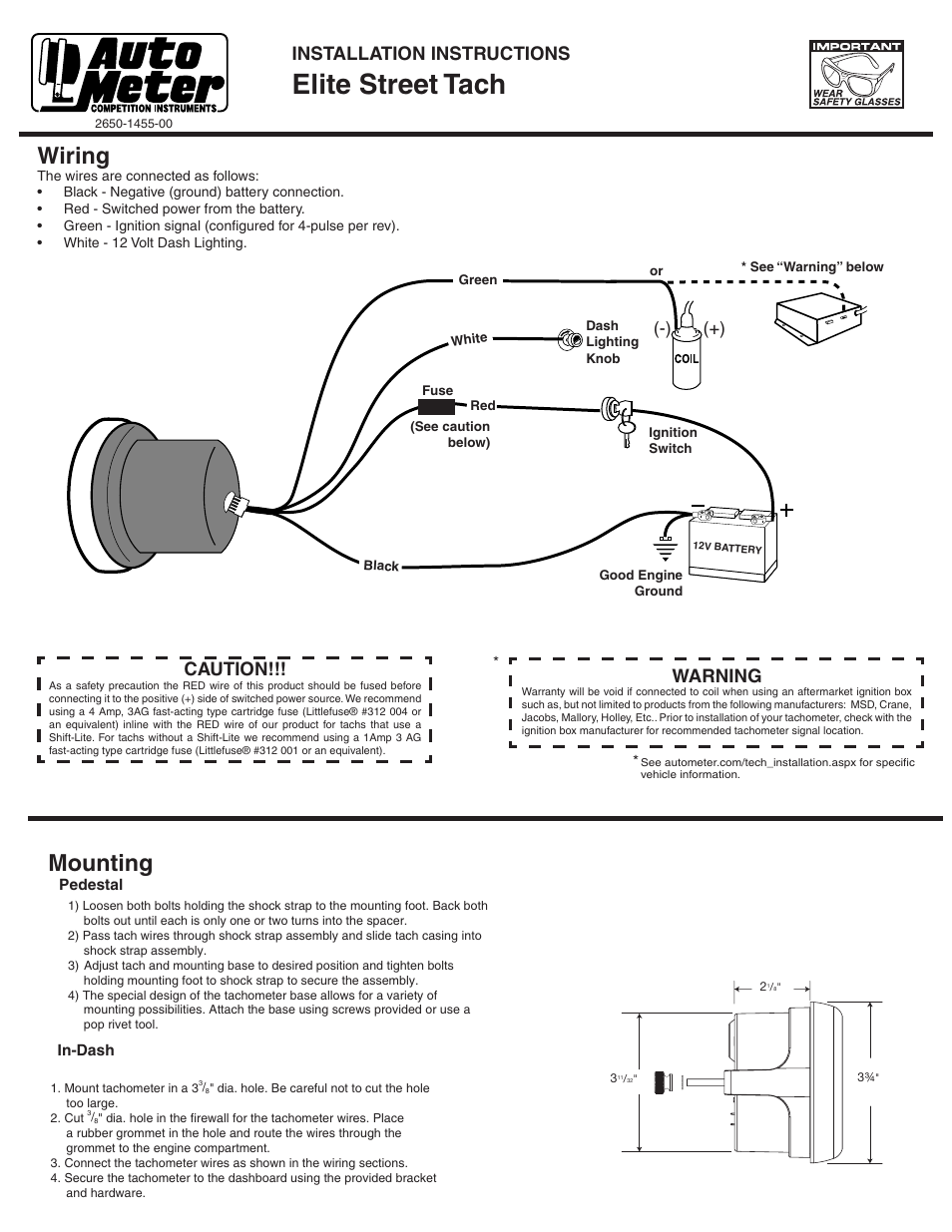 Autometer Electronic Speedometer Wiring Diagram from schematron.org