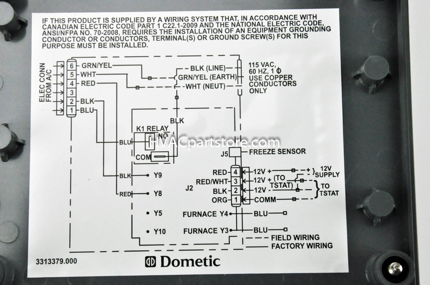 Dometic Brisk 2 Wiring Diagram