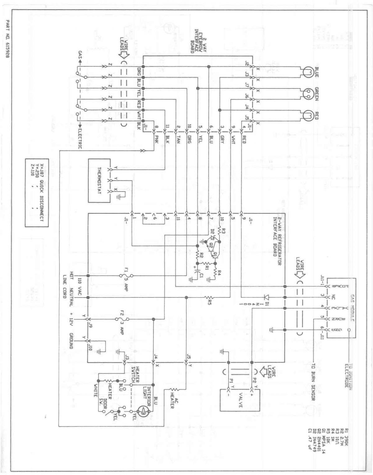 Dometic Refrigerator Wiring Diagram