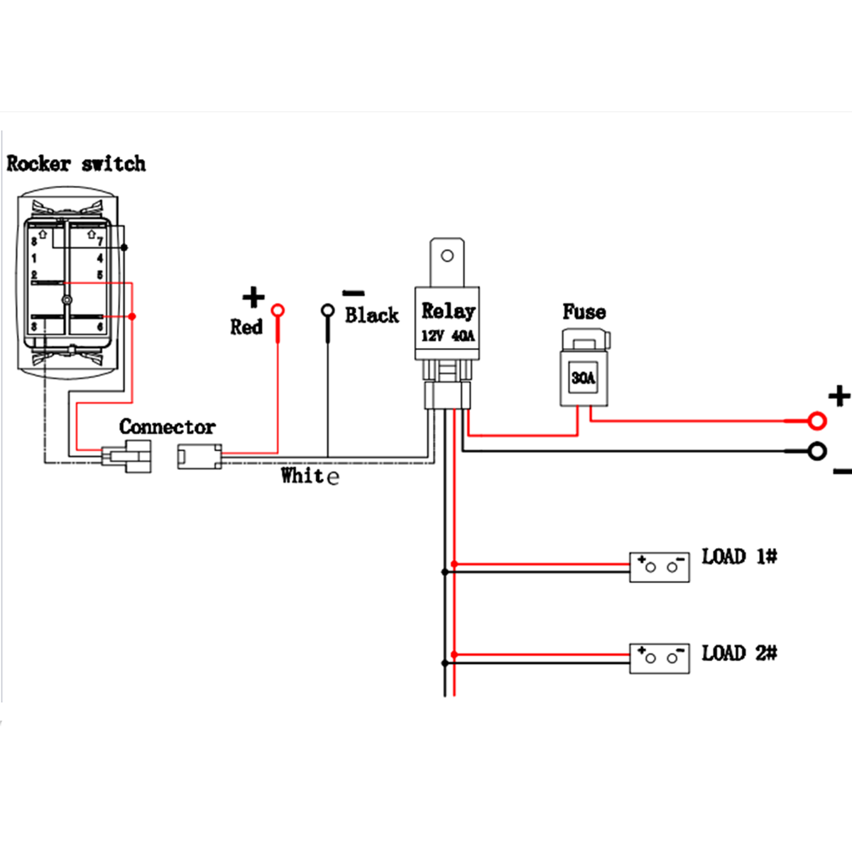Dorman 84944 8 Pin Rocker Switch 12 Volt Wiring Diagram