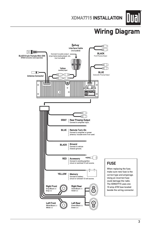 Dual Xd1225 Wiring Harness Diagram