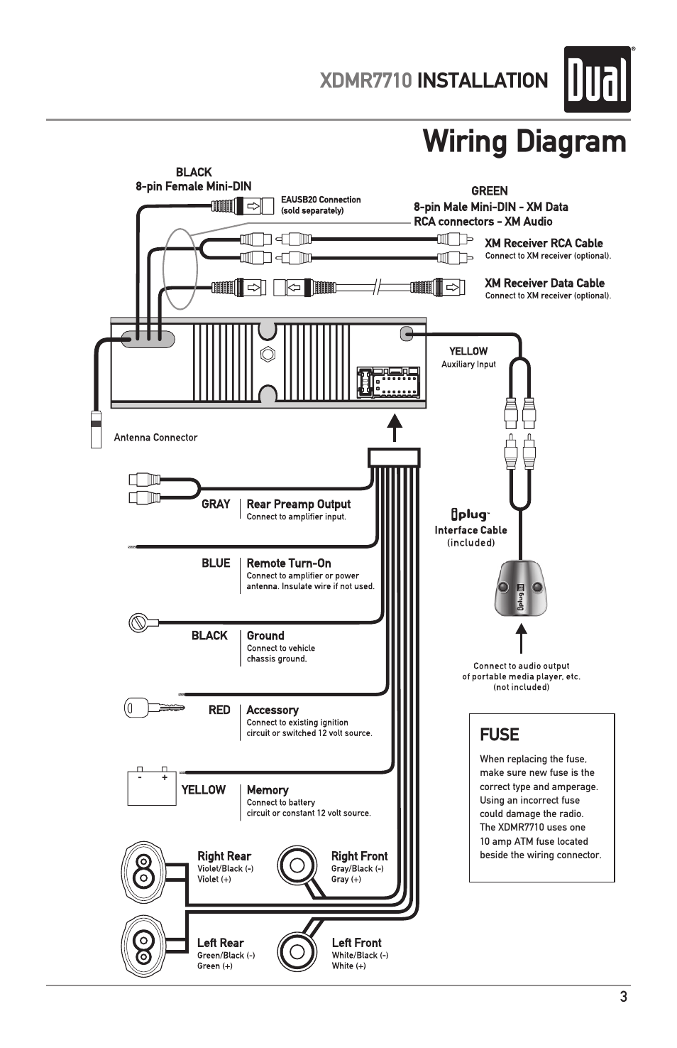 Wiring Diagram In Addition Dual Car Stereo Wire Harness On Dual Radio