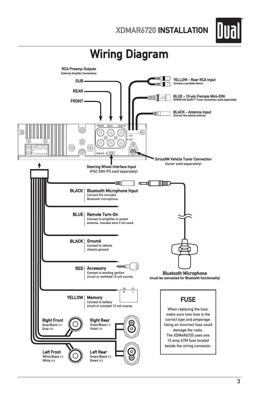 Dual Xdmar6720 Wiring Diagram