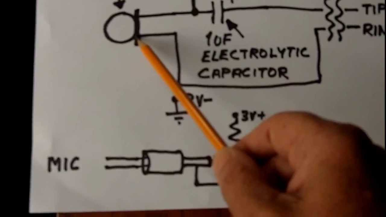 Electret Microphone Cartridge Wiring Diagram Circuit Additionally Diagrams