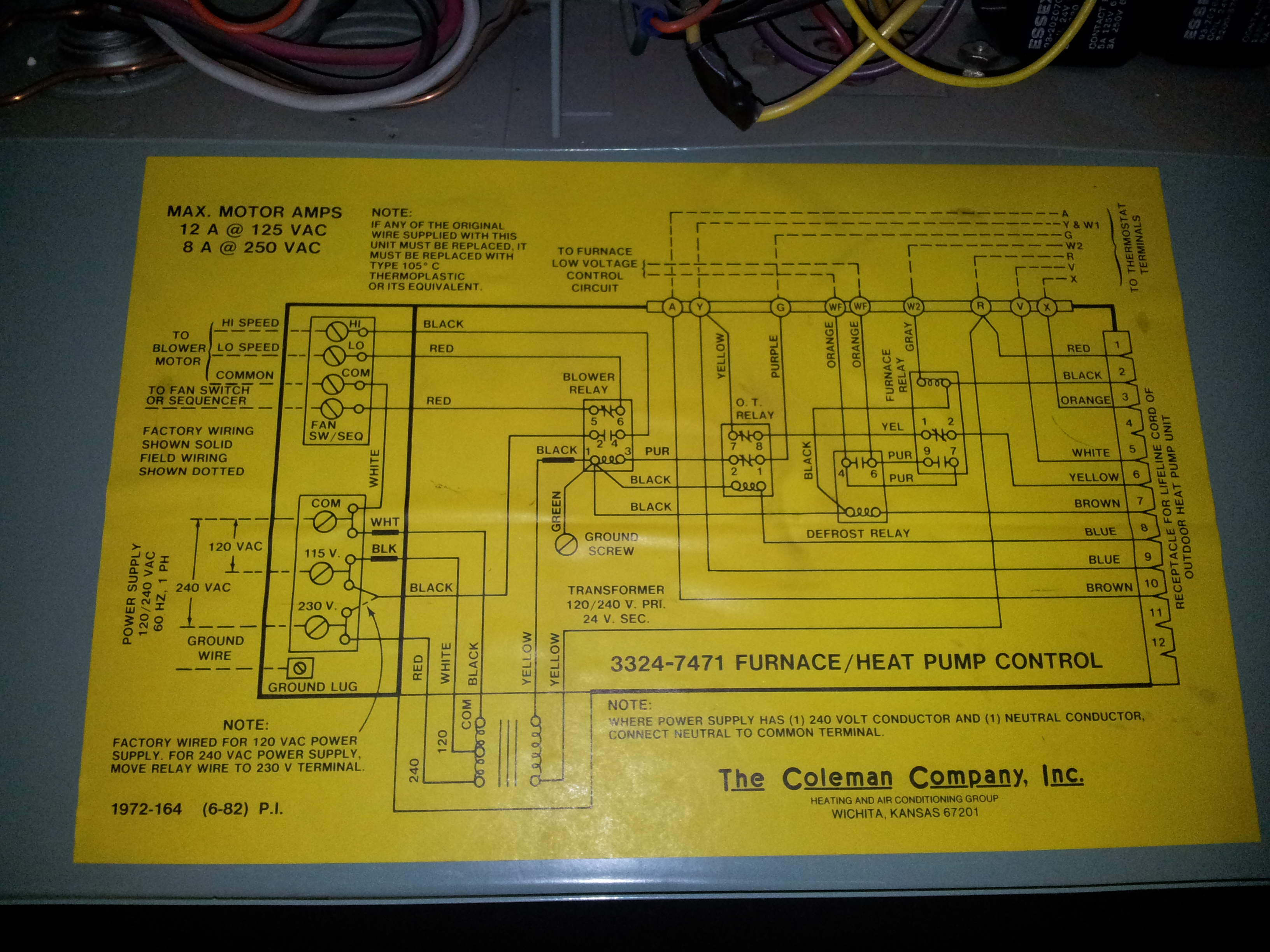 Evcon Thermostat Wiring Diagram