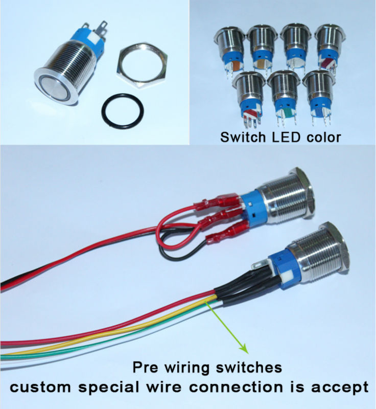 Evergreen 25mm 6 Pin Switch Wiring Diagram