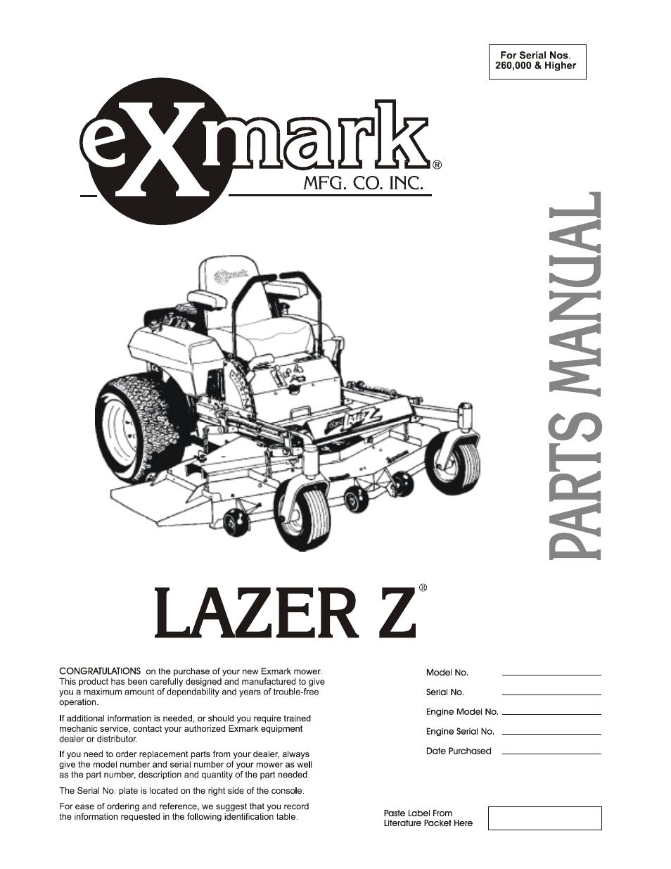 Exmark 48 Drive Belt Diagram - Wiring Schematics
