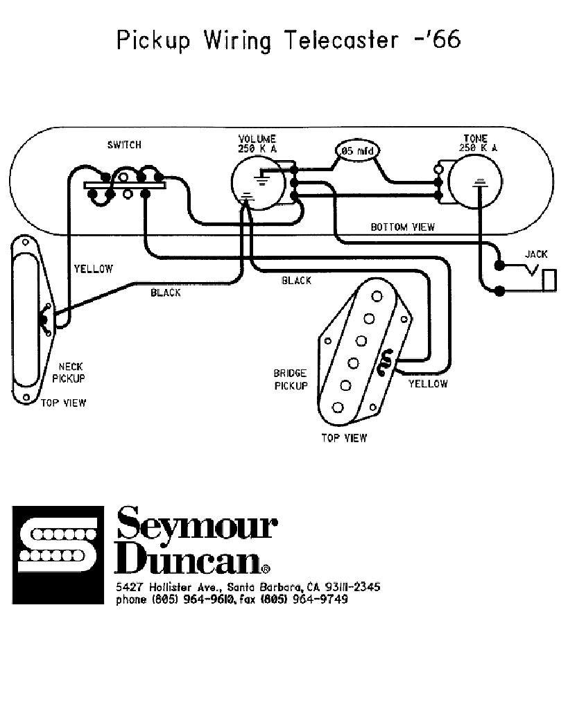 Fender 52 Hot Rod Telecaster Wiring Diagram on