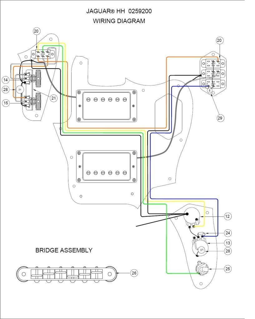 Fender Jaguar Blacktop Hh Wiring Diagram