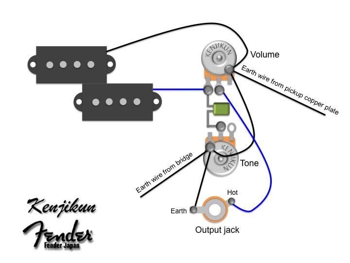 Fender Squier P Bass Wiring Diagram