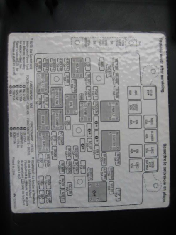 Fl70 Fuse Box Diagram