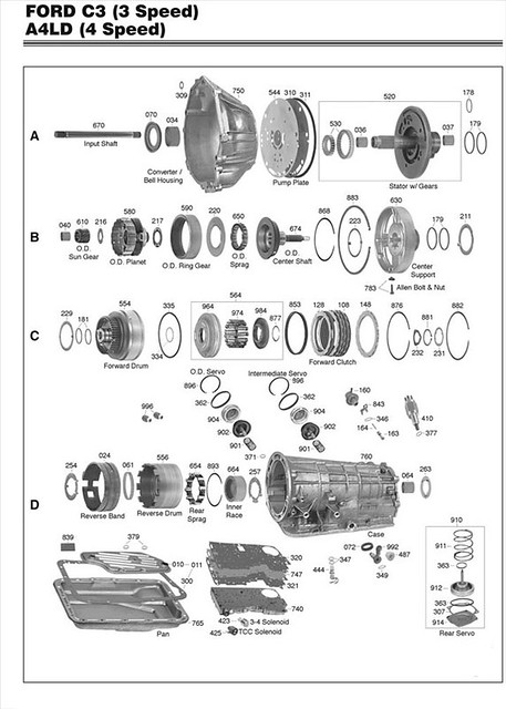 Ford A4ld Transmission Parts Diagram A Ld Wiring Diagram on