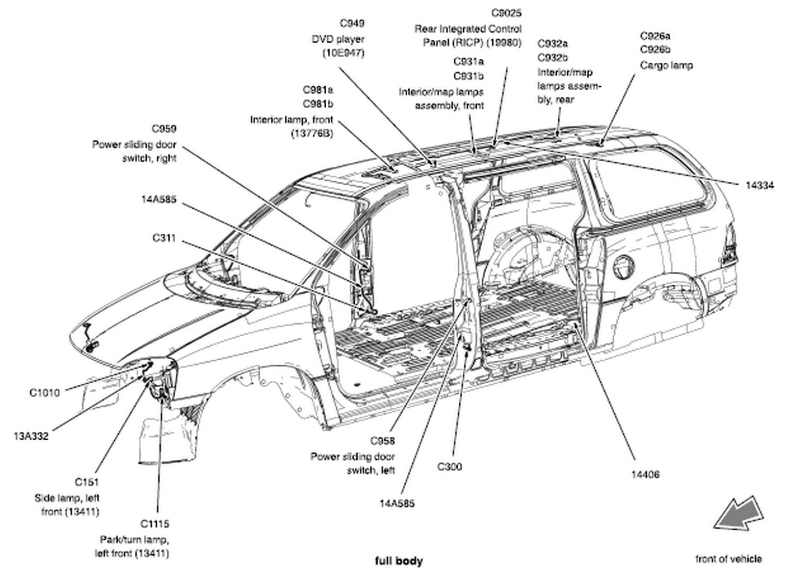 Ford Windstar  U0026 Freestar 1995 Thru 2007 Wiring Diagram