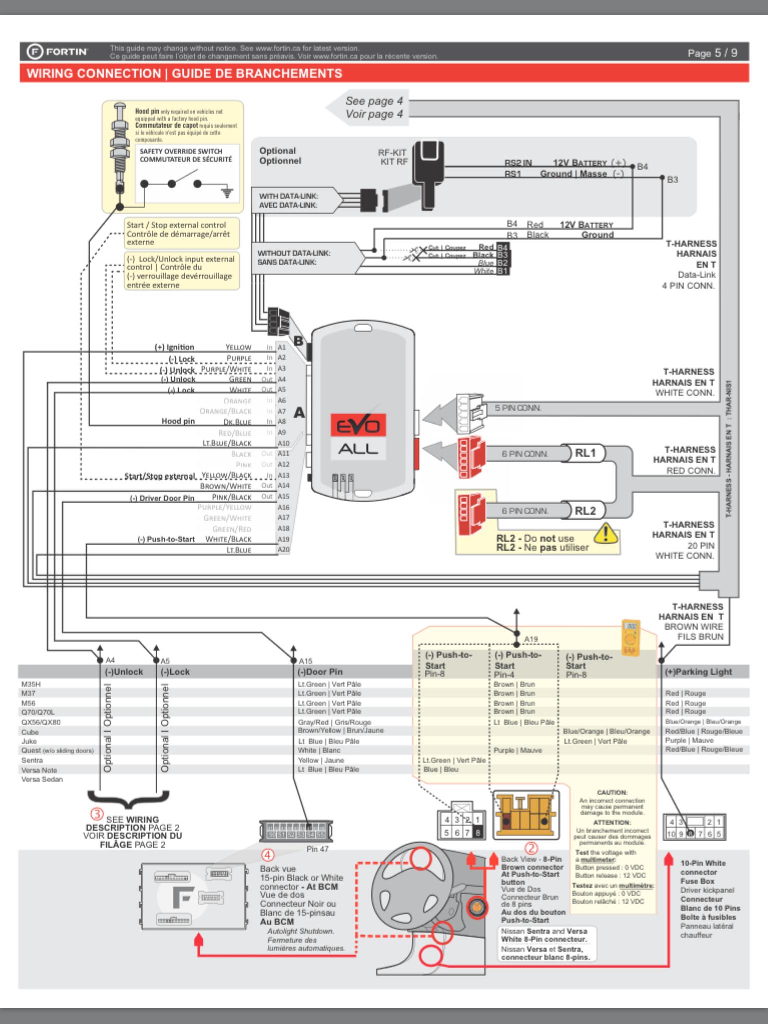 Fortin Car Alarm Wiring Diagram