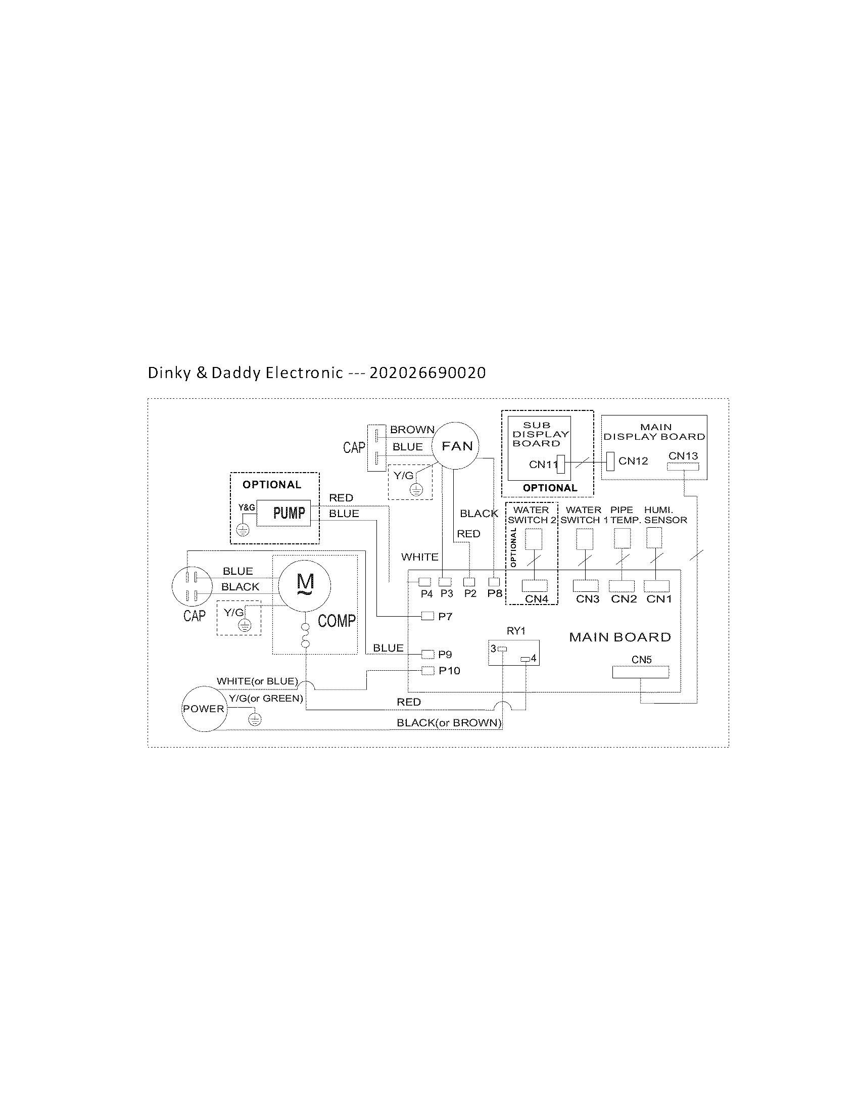 Frigidaire Dehumidifier Wiring Diagram Lad704 Dul