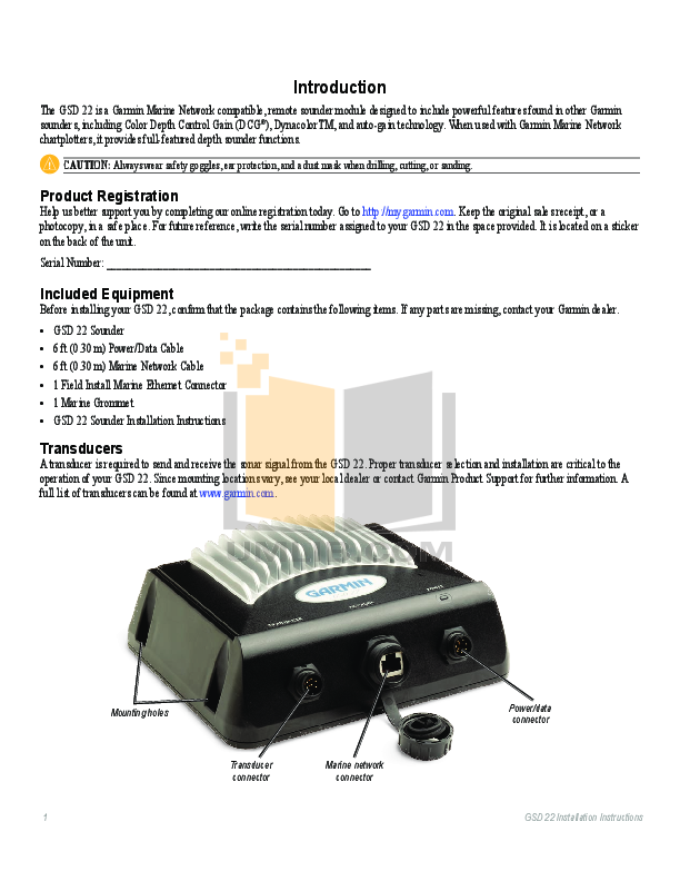 Garmin Gsd 20 Wiring Diagram