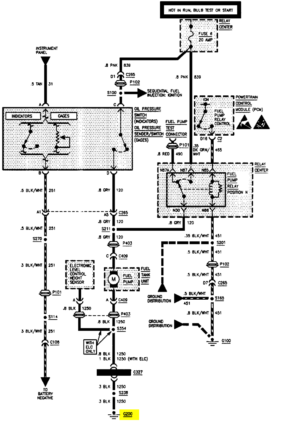 Gas Pump Wiring Diagram 2005 Buick Rendeuzze