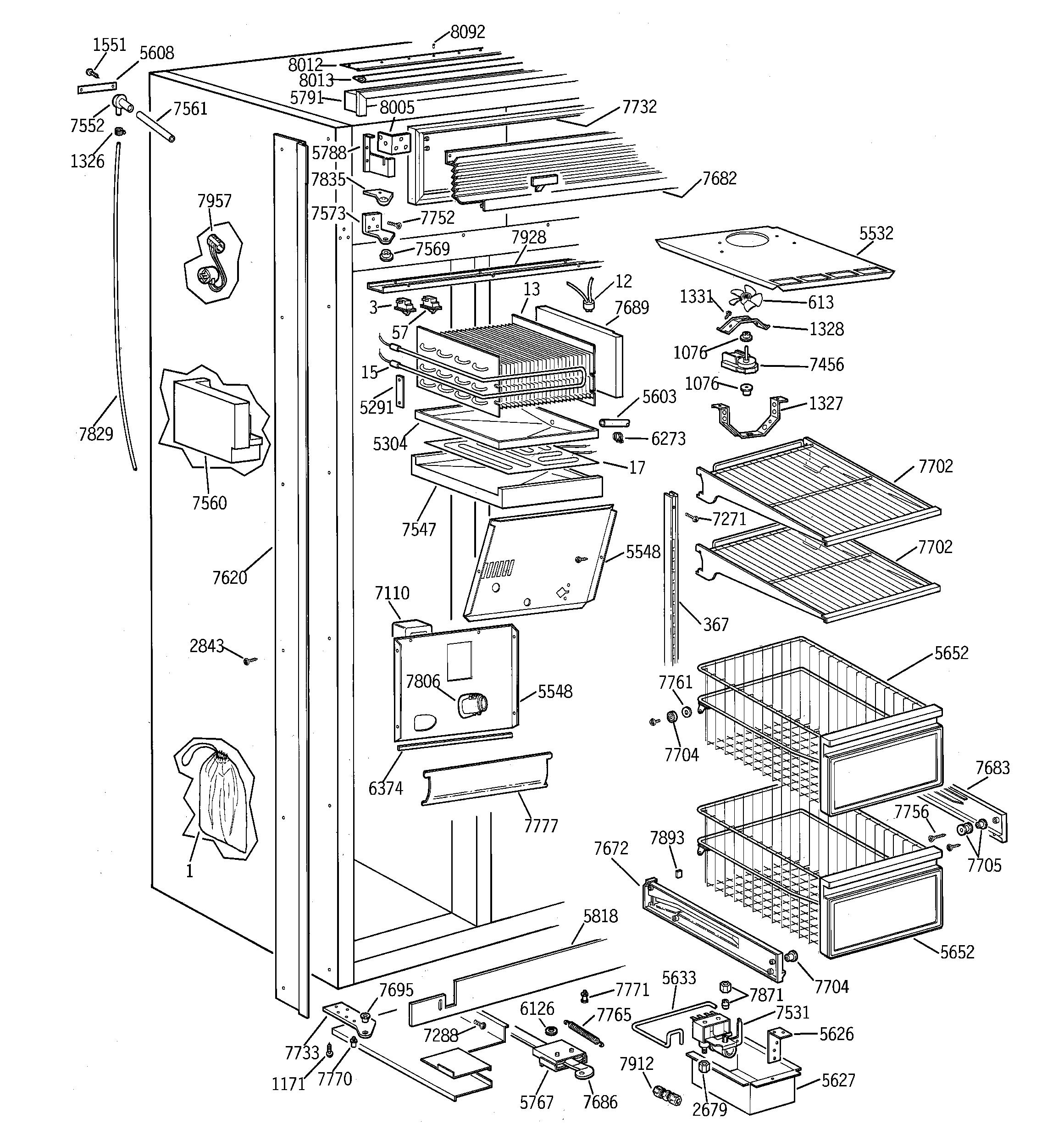 Ge Profile Arctica Parts Diagram