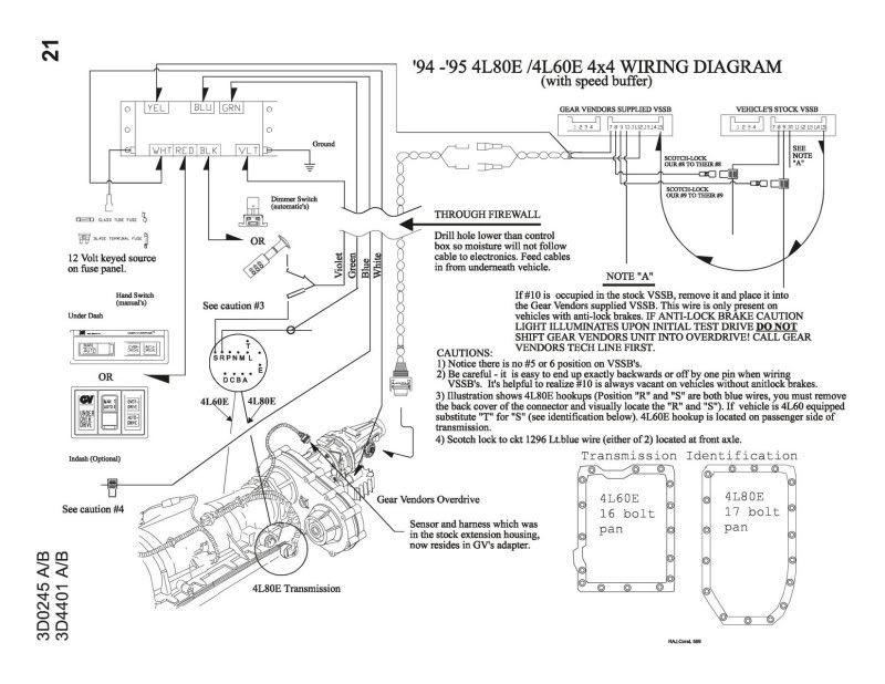 Gear Vendors Overdrive Wiring Diagram