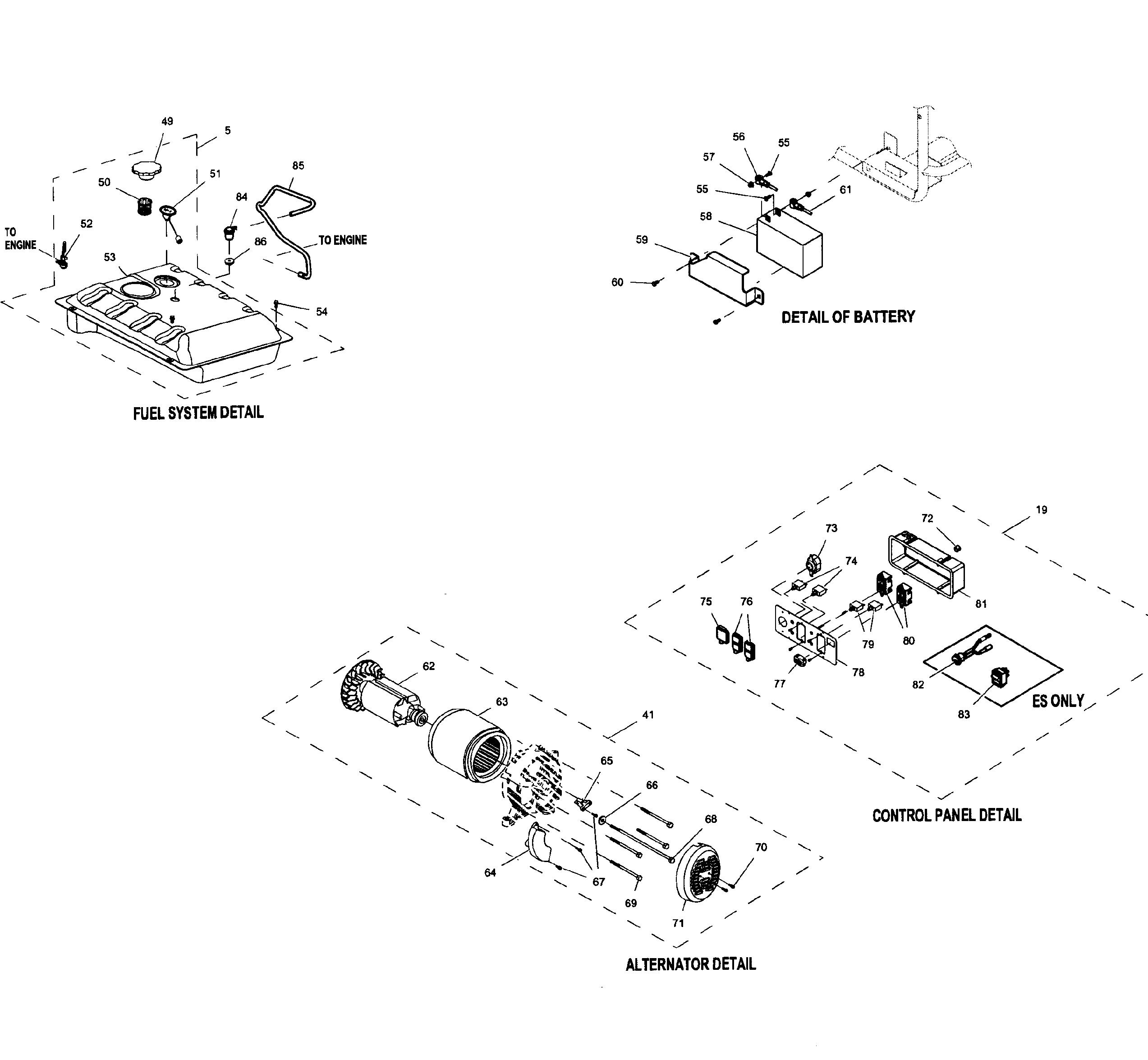 Generac Gp7500e Parts Diagram