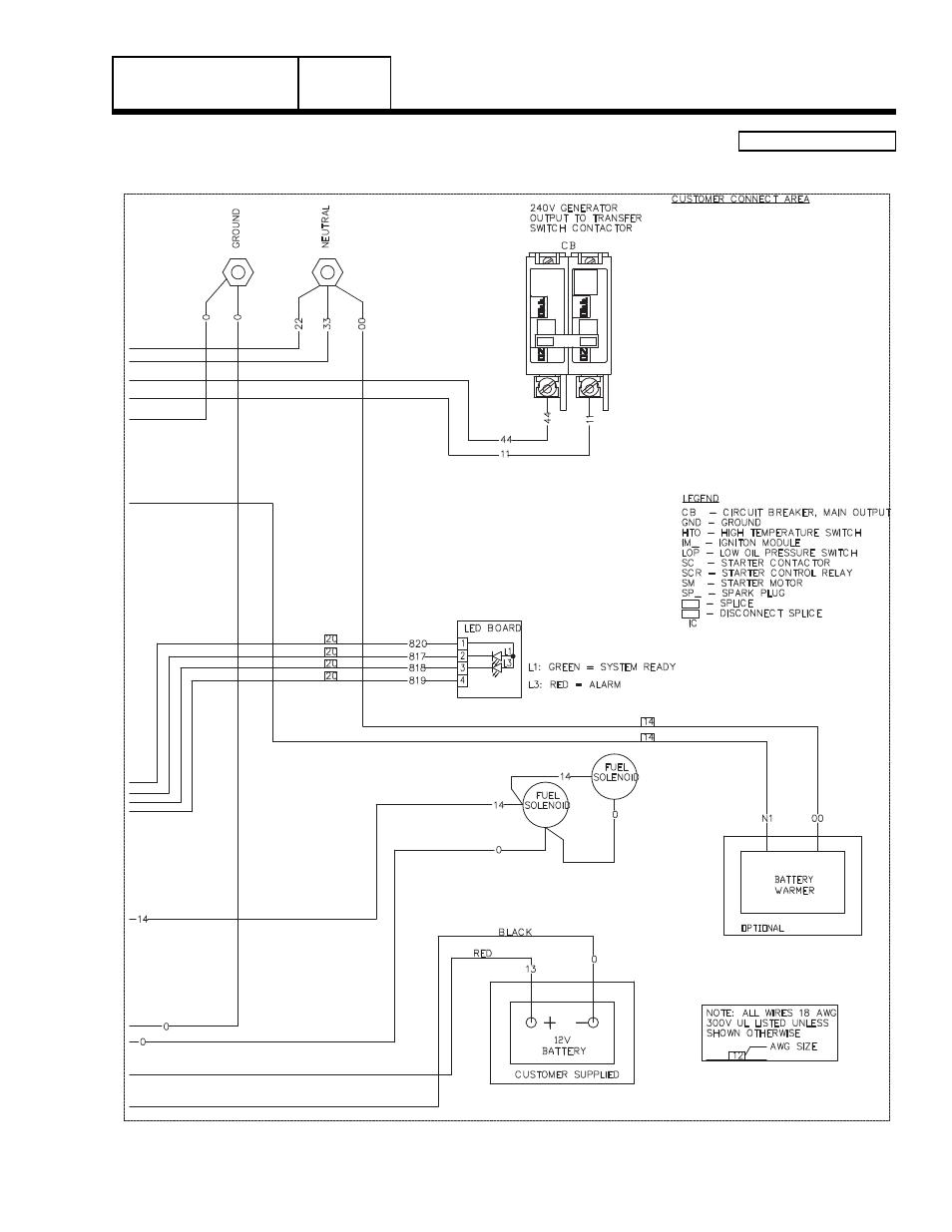 Generac Guardian 45kw Engine Control Module Wiring Diagram