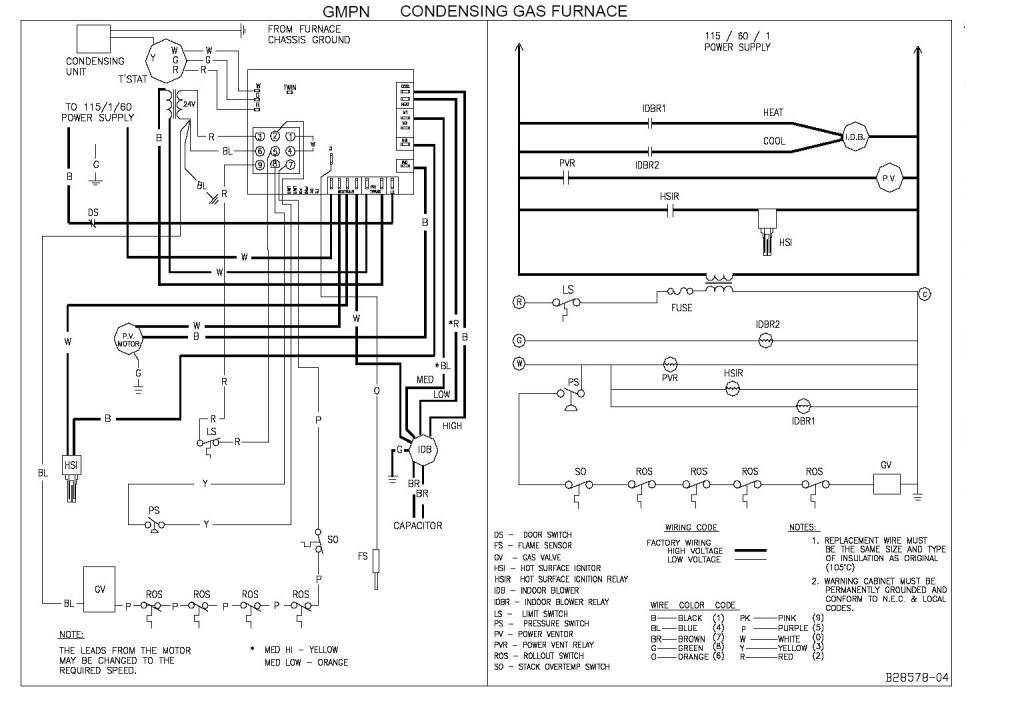 Goodman Gsx16 Wiring Diagram