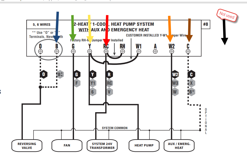 goodman heat pump thermostat wiring diagram to honeywell. Black Bedroom Furniture Sets. Home Design Ideas