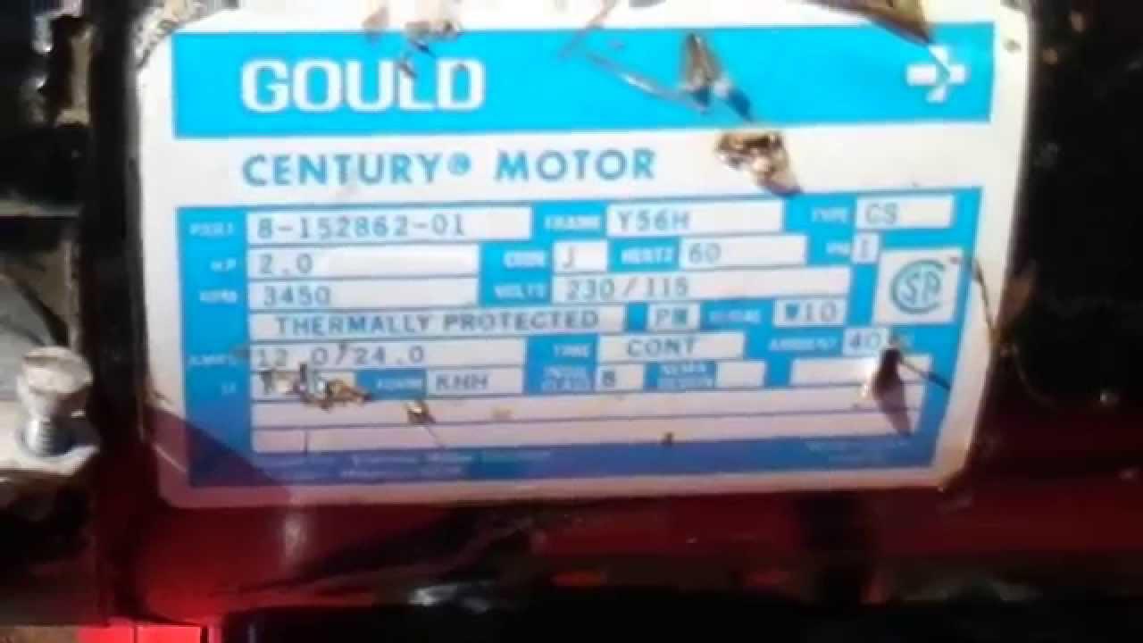 Gould Centry 5hp Motor Wiri Wiring Diagram