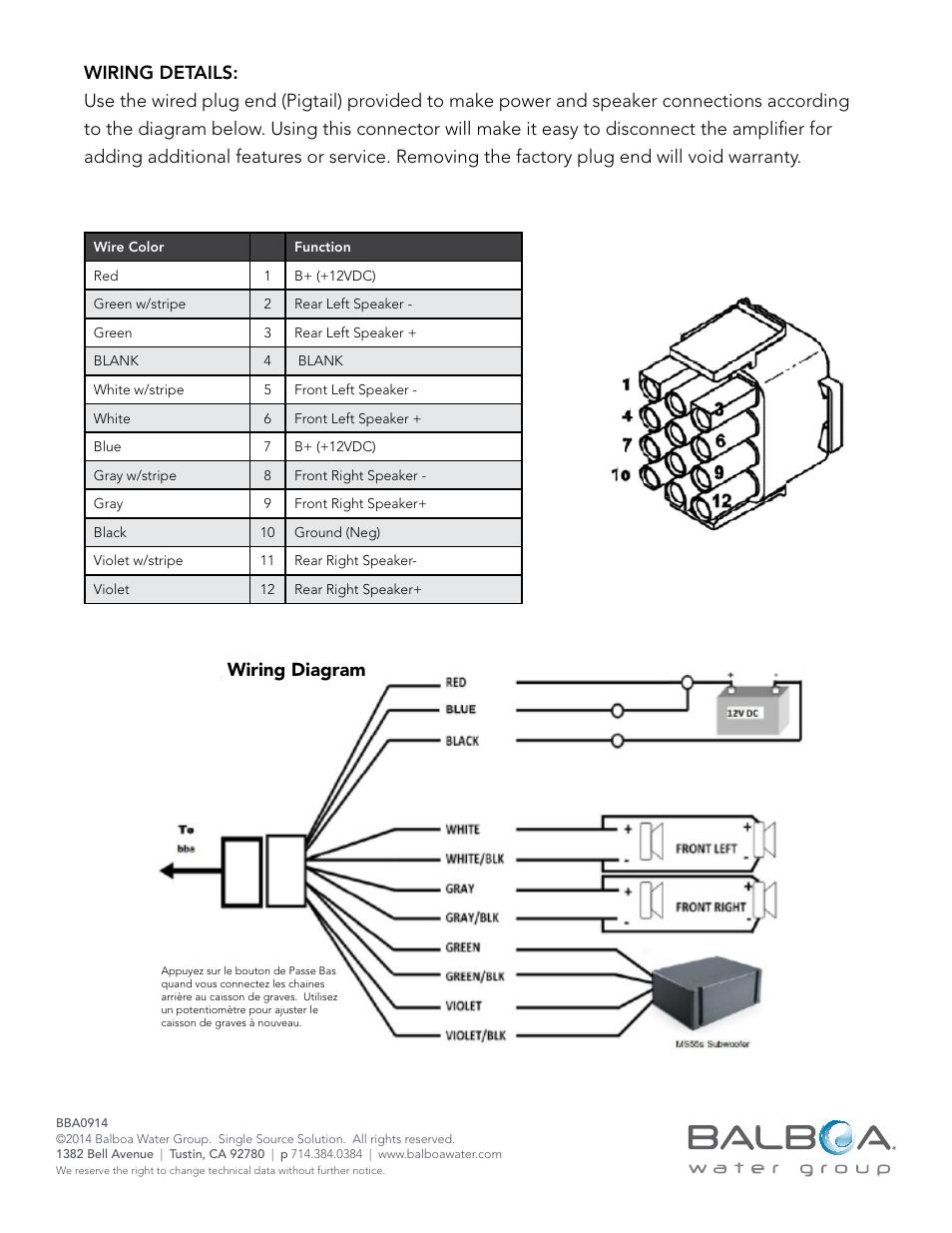 Grandee Spa 2003 Wiring Diagram